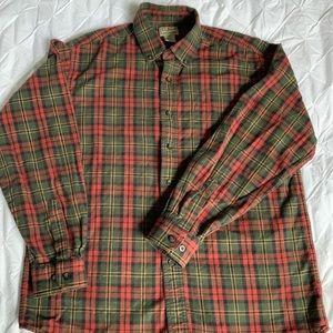 L.L. Bean flannel button down shirt
